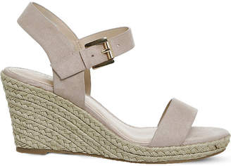 Office Marbs faux-suede espadrille wedges