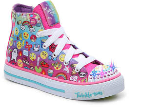 Skechers Twinkle Toes Chat Time Toddler & Youth Light-up High-Top Sneaker - Girl's
