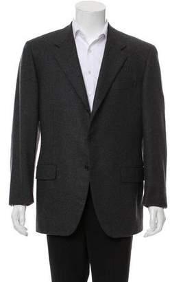 Salvatore Ferragamo Cashmere Three-Button Blazer