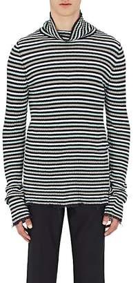 Maison Margiela Men's Striped Linen Turtleneck Sweater
