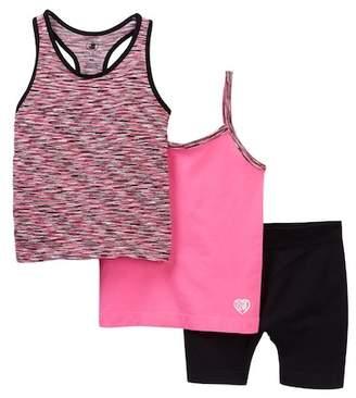 Body Glove 3-Piece Tank & Shorts Set (Little Girls)