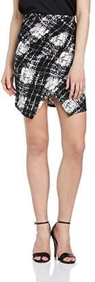 TFNC Women's Taliana Body Con Checkered Skirt,(Manufacturer Size:X-Small)