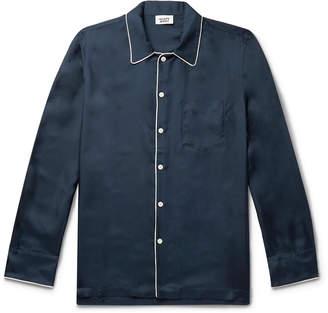 Sleepy Jones Henry Gingham Cotton Pyjama Shirt - Men - Blue
