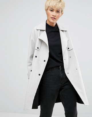 Native Youth Esker Trench Jacket $113 thestylecure.com