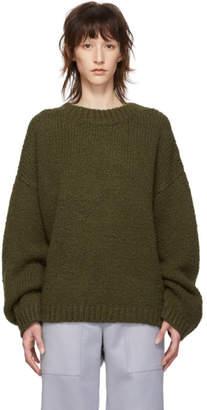 Bottega Veneta Green Alpaca Wool Crewneck Sweater