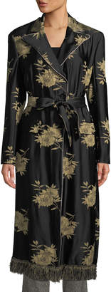 Etro Floral Jacquard Trench Coat