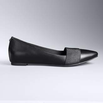 Vera Wang Simply Vera Women's Pointed-Toe Flats
