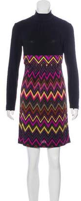 Trina Turk Printed Silk MIni Dress