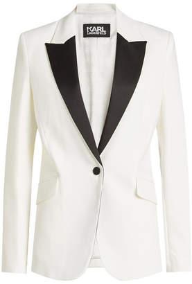 Karl Lagerfeld Summer Tuxedo Virgin Wool Blazer
