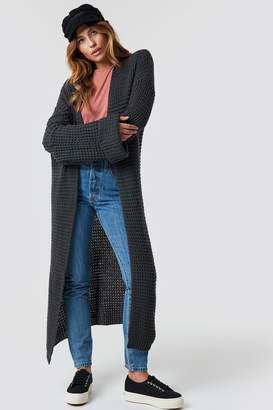 Na Kd Trend Oversized Chunky Sleeve Knit Dusty Pink