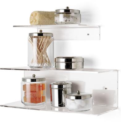Single & Double Acrylic Shelves