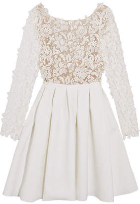 Rime Arodaky - Clover Embroidered Tulle And Cady Mini Dress - White $1,259 thestylecure.com