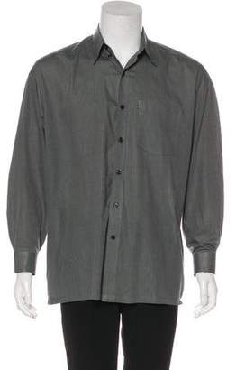 Versace Woven Button-Up Shirt