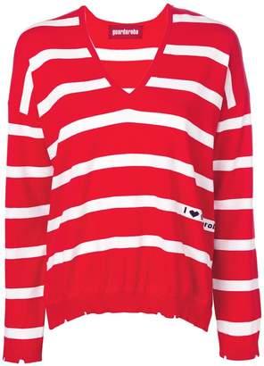 Guardaroba striped V-neck jumper