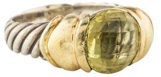 David Yurman Two-Tone Peridot Cable Ring