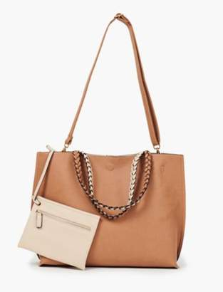 Lucky Brand REVERSIBLE TOTE WITH BRAIDED STRAP