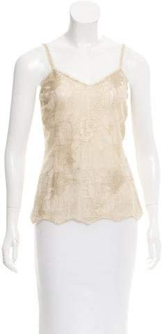 Chanel Metallic Lace Top