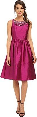 Adrianna Papell Women's Sleeveles Tafta Mid Length Party Dress $209 thestylecure.com