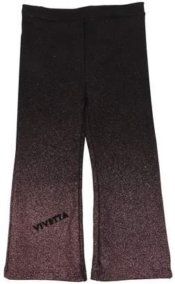 Glittered Flared Cotton Sweatpants