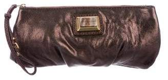 Marc by Marc Jacobs Metallic Leather Zip Pouch Metallic Metallic Leather Zip Pouch