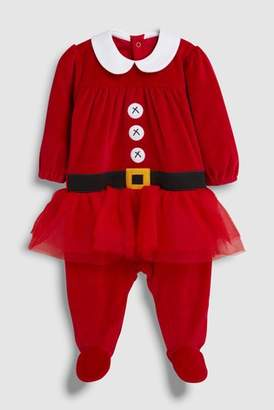 Next Girls Red Babies Christmas Tutu Dress Up Sleepsuit (0mths-2yrs)