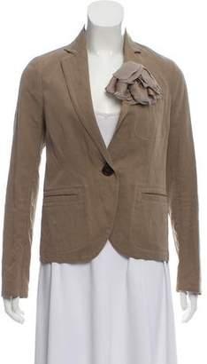 Lanvin Notched-Lapel Embellished Blazer