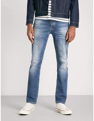 Nudie Jeans Grim Tim faded straight-leg jeans