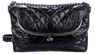 Chanel 2015 Tabatiere Foldover Kisslock Bag