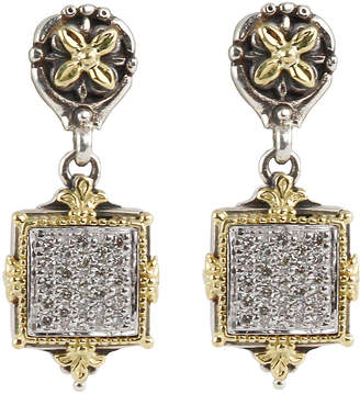 Konstantino Asteri Pave White Diamond Square Double-Drop Earrings