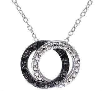 Black Diamond Affinity Diamond Jewelry Pendant w/Chain, Sterling, by Affinity