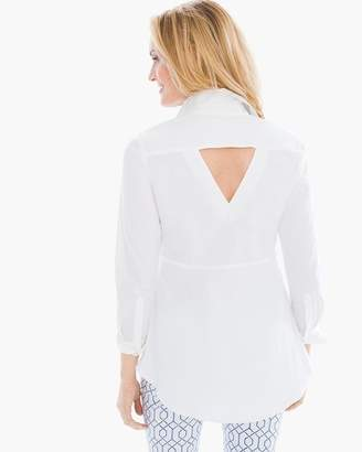 Chico's Back-Detail Button-Down Shirt