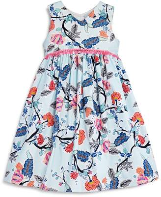 Pippa & Julie Girls' Floral Empire-Waist Dress