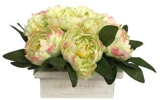DAY Birger et Mikkelsen August Grove Yellow Peonies Floral Arrangement in Pot