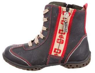 Dolce & Gabbana Boys' Lace-Up Ankle Boots