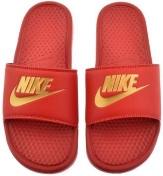 Nike Benassi JDI Flip Flops Red