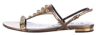 Burberry Metallic Studded Sandals
