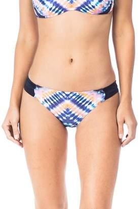 Trina Turk Moonlight Shirred Hipster Bikini Bottoms