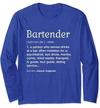 Bartender Gift Long Sleeve - Funny Bartender Definition