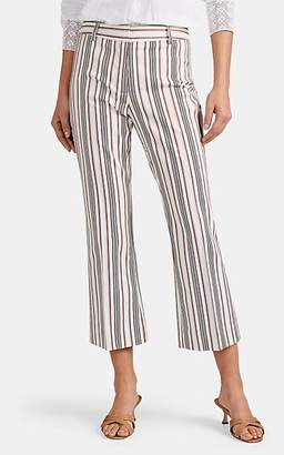 Derek Lam 10 Crosby Women's Striped Cotton Flared Crop Pants - White