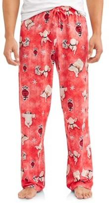Owl Night Long Mens Thanksgiving Turkey PJ Pants with Drawstring