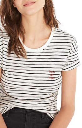 Women's Madewell This Or That Whisper Cotton Stripe Tee $29.50 thestylecure.com