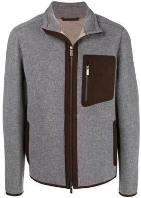 Ermenegildo Zegna contrast pocket zipped jacket