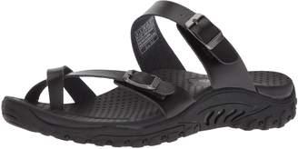 2b824aa96817 Skechers Women s Reggae-Carribean - Double Buckle Toe Thong Slide Sandal