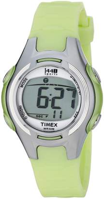 Timex Women's T5K081 1440 Digital Watch with Light-Green Resin Strap