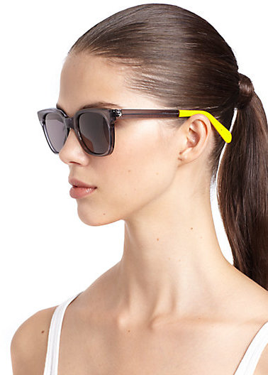 Sheriff & Cherry Grey Wayfarer Square Sunglasses