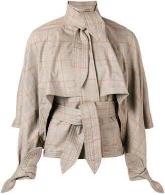 Zimmermann plaid tie detail jacket