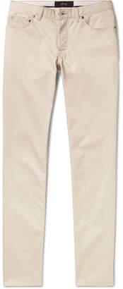 Brioni Meribel Slim-Fit Cotton-Twill Trousers - Men - Beige