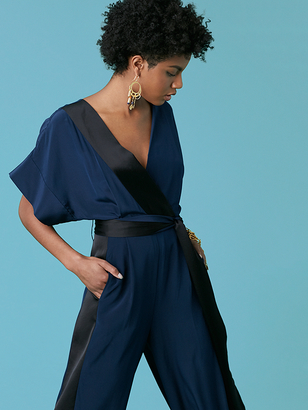 Faux Wrap Jumpsuit $448 thestylecure.com