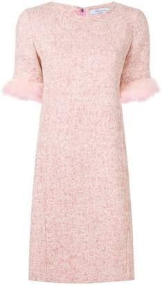 Blumarine feather sleeved dress