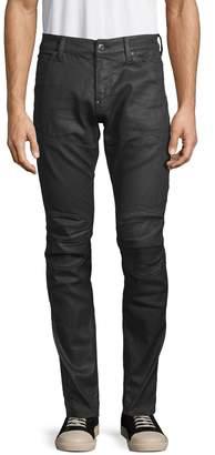 G Star Raw Coated Skinny Moto Jeans